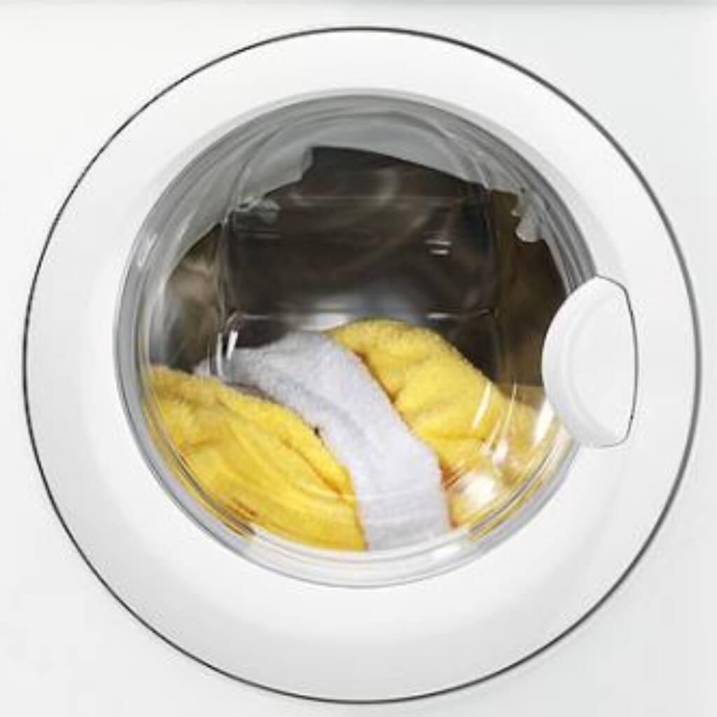 vaskemaskine lugter muggent